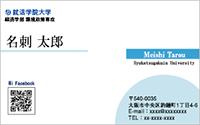 テンプレート名刺 ビジネス系 BG-013 横