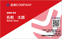 テンプレート名刺 ビジネス系 RY-003 横