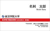 テンプレート名刺 ビジネス系 RY-001 横