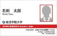 写真入りテンプレート名刺 ビジネス系 RY-S-001 横