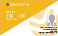 写真入りテンプレート名刺 ビジネス系 RY-S-004 横
